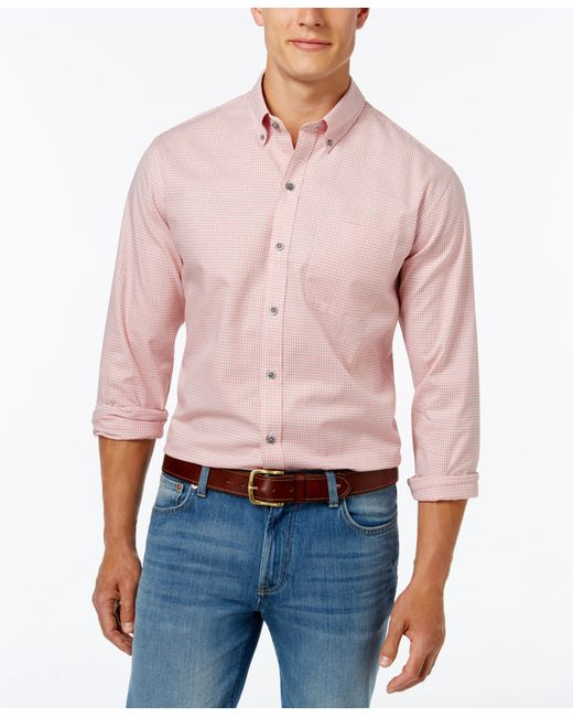 Cutter buck men 39 s big and tall check oxford shirt in for Big and tall oxford shirts