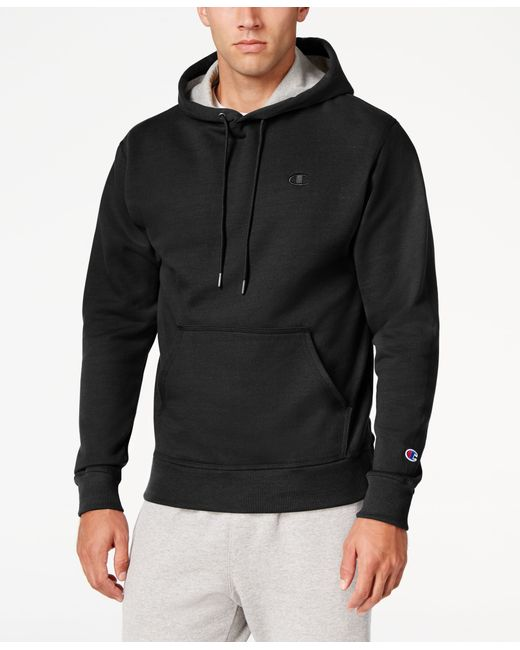 Champion Menu0026#39;s Powerblend Fleece Hoodie in Black for Men | Lyst