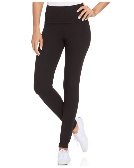 Style & Co. | Black Petite Tummy-control Active Leggings, Only At Macy's | Lyst