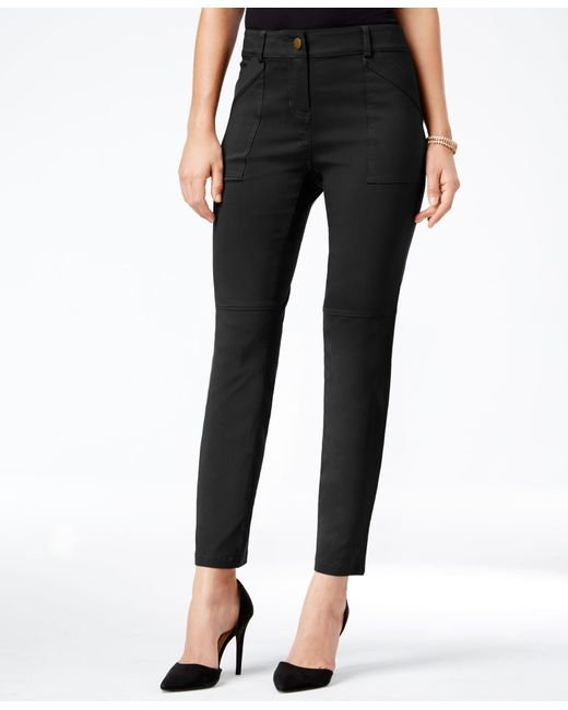 Style & Co. | Black Utility-pocket Skinny Pants, Only At Macy's | Lyst