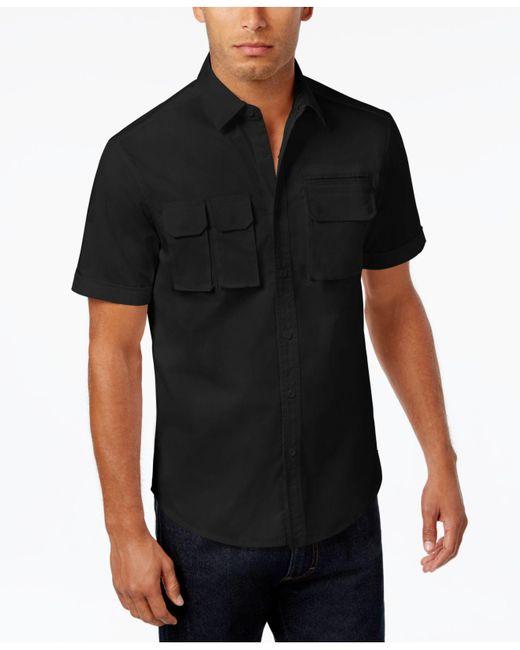Sean John | Black Men's Multi-pocket Cotton Shirt for Men | Lyst