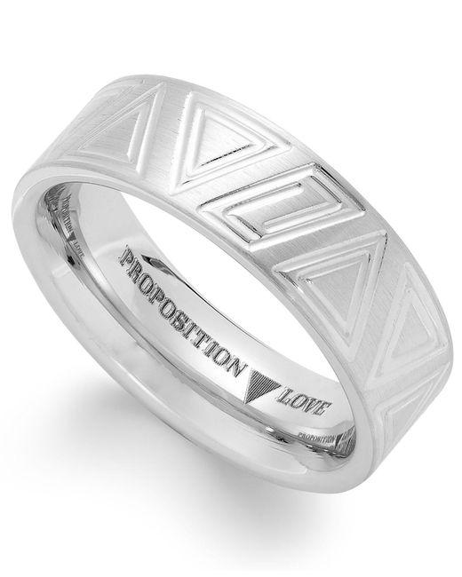 Proposition Love | Metallic Cobalt Triangle Motif Ring | Lyst