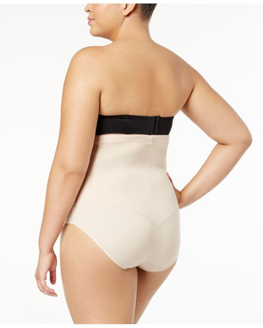 633458b8b4b32 ... Maidenform - Black Plus Size Fat-free Dressing Firm Control High Waist  Brief 11854 -