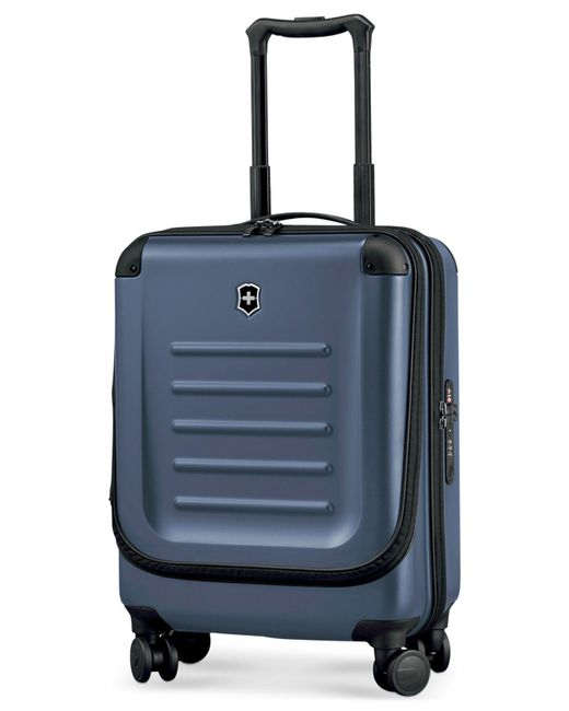 """Victorinox - Blue Suitcase, 21"""" Spectra 2.0 Rolling Hardside Extra Capacity Dual Access Carry On Spinner Upright - Lyst"""