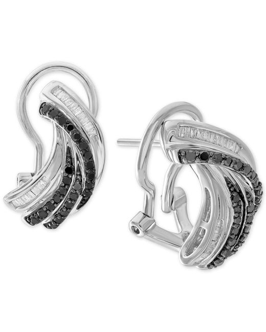 Macy's - Metallic Diamond Twist Drop Earrings (1/2 Ct. T.w.) In Sterling Silver - Lyst