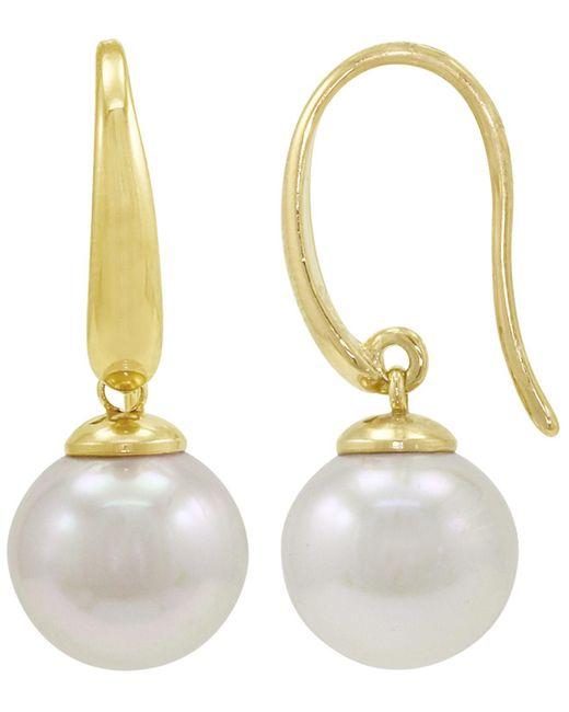 Majorica - White Simulated Pearl Drop Earrings - Lyst