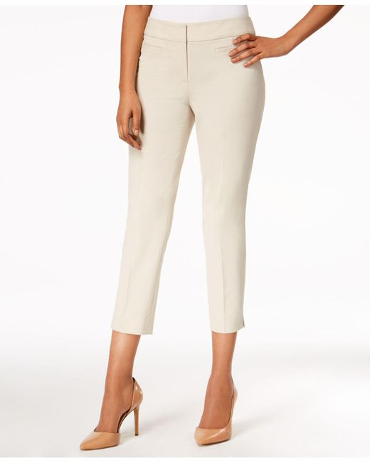 Nine West - Natural Cropped Skinny Pants - Lyst
