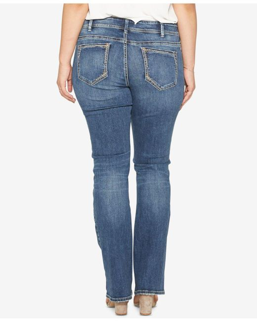 786dd64092b ... Silver Jeans Co. - Blue Plus Size Elyse Stretch Slim-fit Boot-cut ...