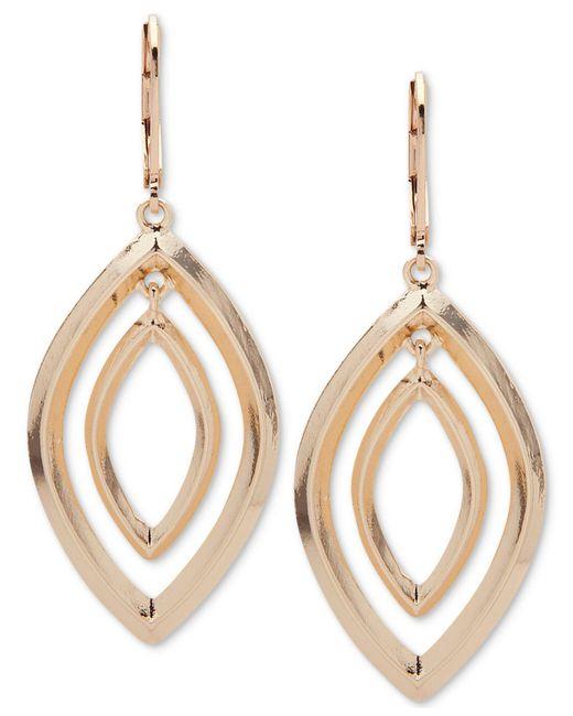 Anne Klein | Metallic Silver-tone Orbital Drop Earrings | Lyst