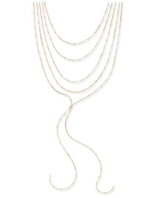 INC International Concepts   Metallic Gold-tone Multi-layer Lariat Chocker Necklace   Lyst