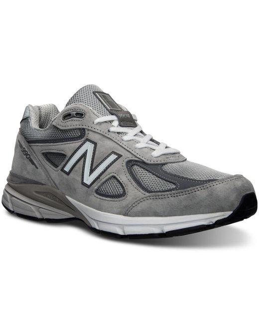 New Balance - Gray Men's 990v4 Running Sneakers From Finish Line for Men - Lyst