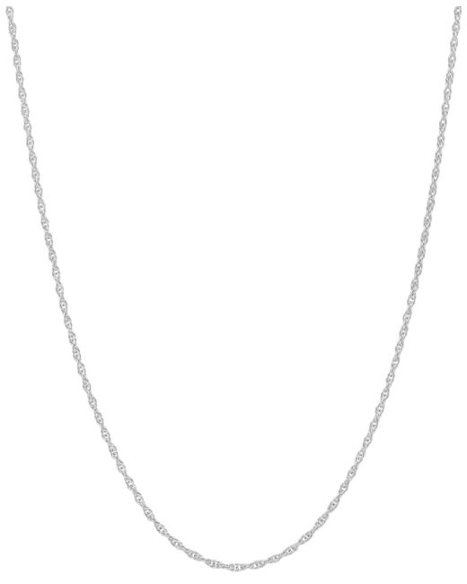 """Macy's - 14k White Gold Necklace (1mm), 18"""" Light Rope Chain - Lyst"""