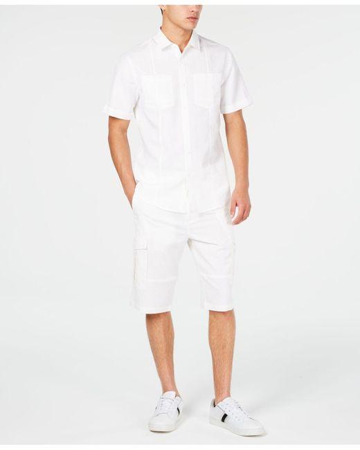 Sean John White Cargo Shorts for men