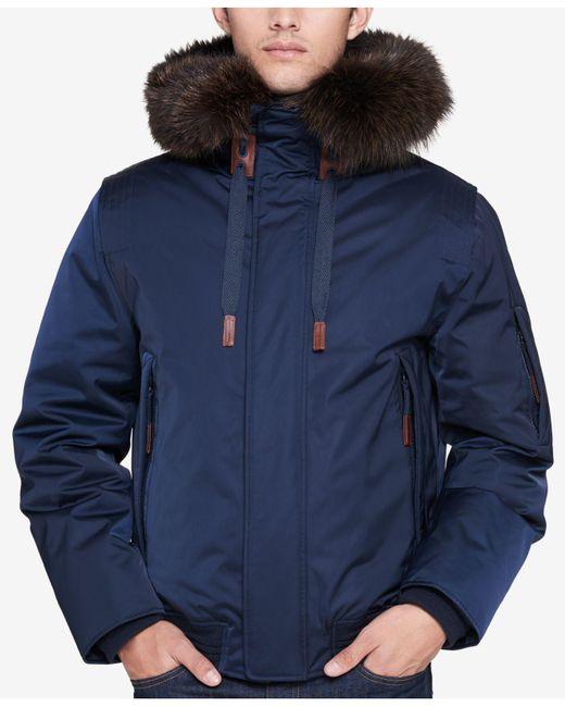 Andrew Marc - Blue Men's Alpine Bomber Jacket for Men - Lyst