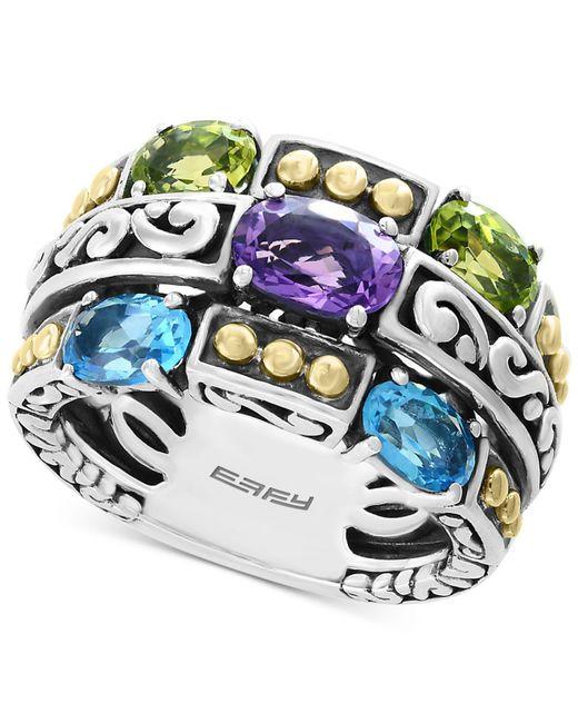 Effy Collection - Metallic Effy® Multi-gemstone Statement Ring (2-9/10 Ct. T.w.) In Sterling Silver & 18k Gold - Lyst