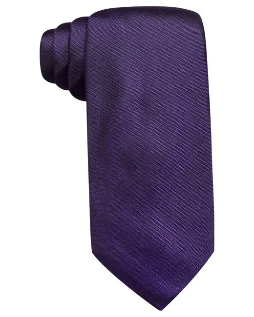 Vince Camuto | Purple Isabella Solid Slim Tie for Men | Lyst