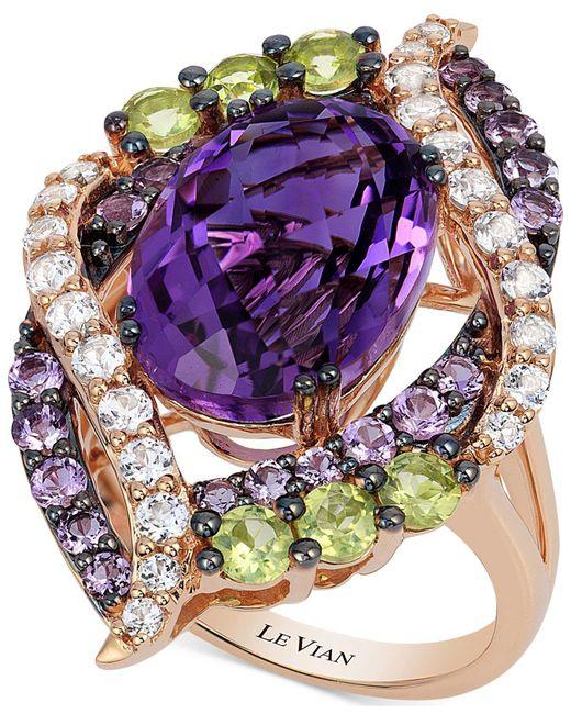 Le Vian | Metallic Multi-stone Ring (7 Ct. T.w.) In 14k Rose Gold | Lyst
