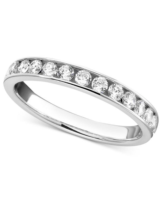 Macy's - Gray Diamond Band Ring In 14k White Gold (1/2 Ct. T.w.) - Lyst