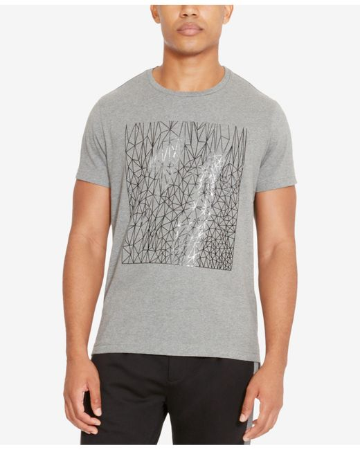 Kenneth Cole Reaction | Gray Men's Reflective Sketch-print T-shirt for Men | Lyst