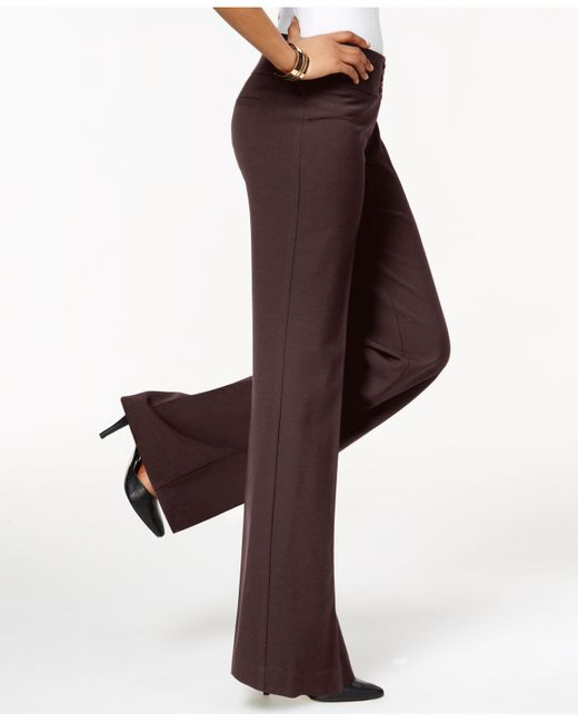Style & Co. | Brown Stretch Wide-leg Pants | Lyst
