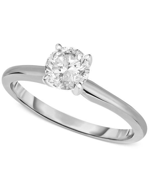 Macy's | Metallic 14k White Gold Certified Diamond Ring (3/4 Ct. T.w.) | Lyst