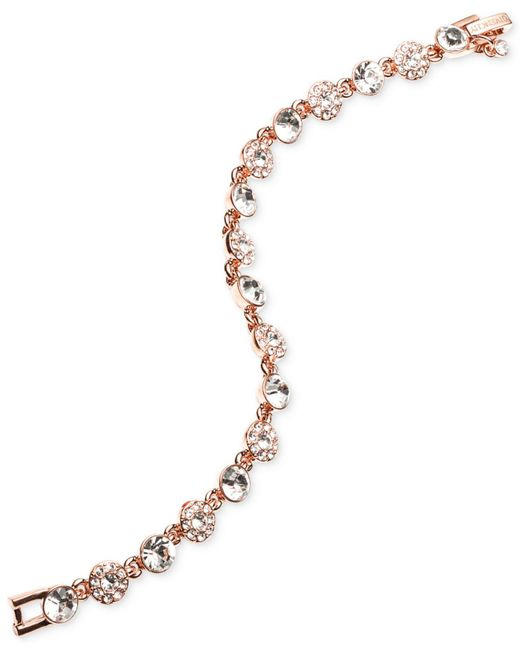 Givenchy - Metallic Rose Gold-tone Crystal Bracelet - Lyst