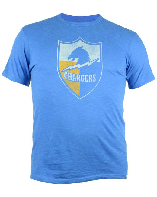 47 Brand - Blue Los Angeles Chargers Retro Logo Scrum T-shirt for Men - Lyst