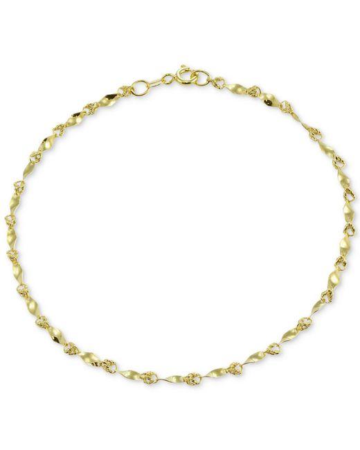 Giani Bernini   Metallic Twist Link Ankle Bracelet In 18k Gold-plated Sterling Silver   Lyst