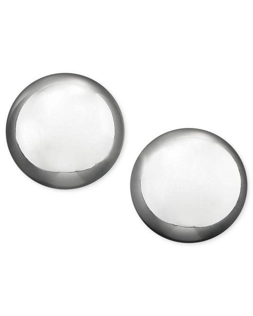 Lauren by Ralph Lauren | Gray Silver-tone Metal Bead Stud (10 Mm) Earrings | Lyst