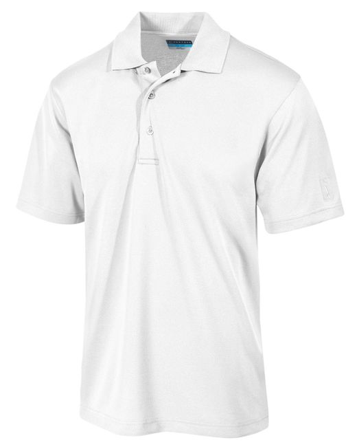PGA TOUR - White Airflux Solid Golf Polo for Men - Lyst