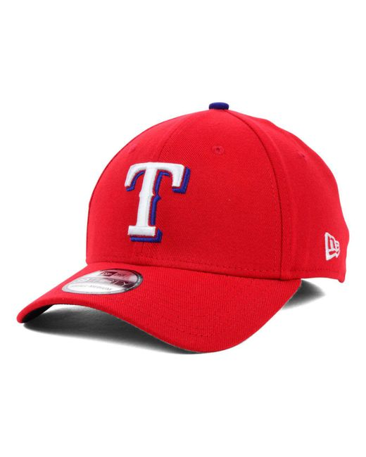 KTZ - Red Texas Rangers Mlb Team Classic 39thirty Cap for Men - Lyst ... a49fe8f0908c
