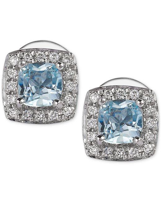 Le Vian | Metallic Aquamarine (3/8 Ct. T.w.) And Diamond (1/10 Ct. T.w.) Stud Earrings In 14k White Gold | Lyst