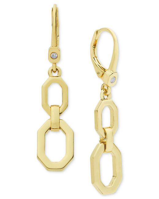 Ivanka Trump | Metallic Lever Back Double Drop Earrings | Lyst