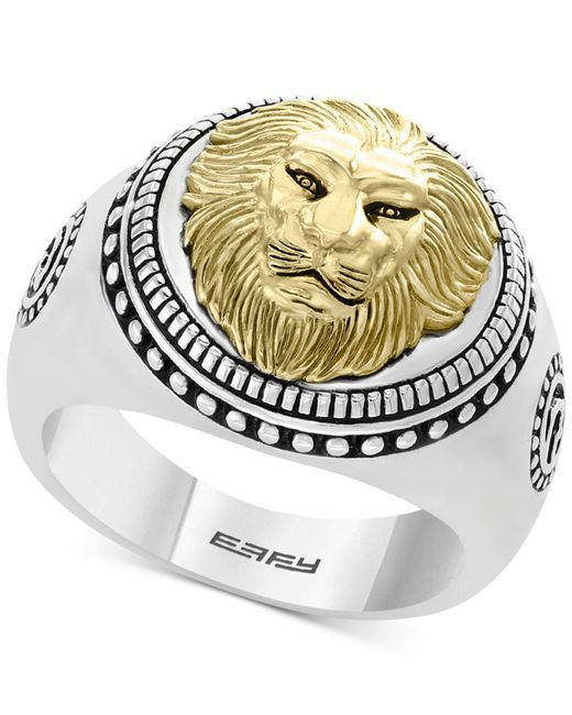 Effy Collection - Metallic Lion Head Ring In Sterling Silver & 18k Gold-plate - Lyst