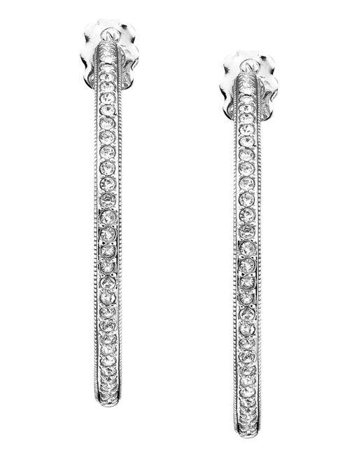 Danori   Metallic Earrings, Rhodium-plated Silver-tone Mixed Metal Hoop   Lyst