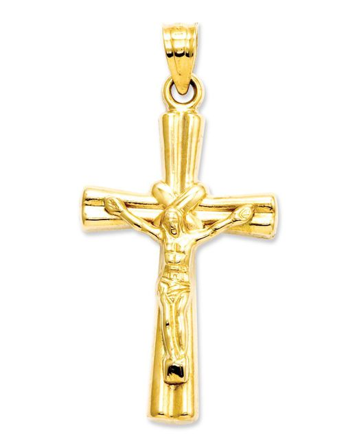 Macy's - Metallic 14k Gold Charm, Reversible Crucifix Cross Charm - Lyst