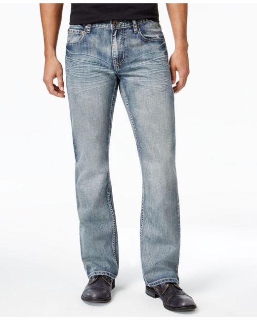 INC International Concepts | Blue Men's Modern Boot-cut Faded Jeans for Men | Lyst