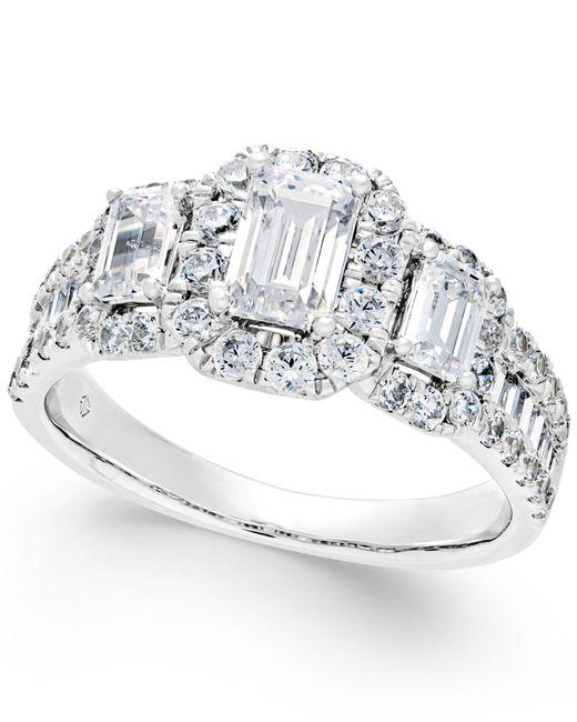 Macy's - Metallic Diamond Engagement Ring (2 Ct. T.w.) In 14k White Gold - Lyst