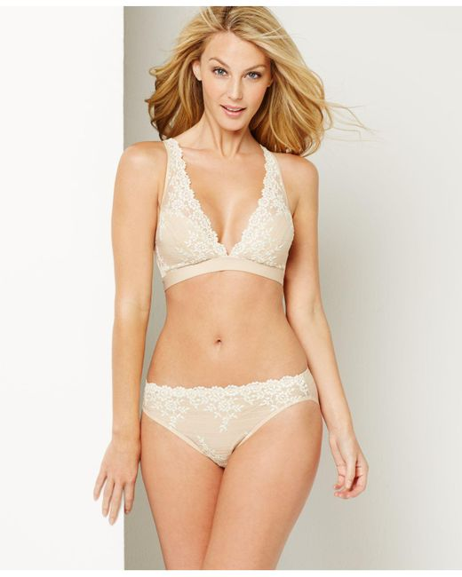 Wacoal | Natural Embrace Lace Soft Cup Wireless Bra 852191 | Lyst