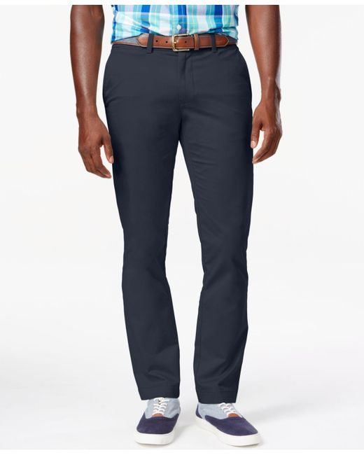 Tommy Hilfiger - Blue Slim-fit Chino Pants for Men - Lyst