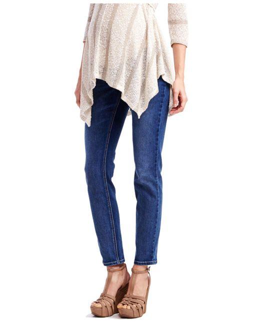Jessica Simpson - Blue Petite Maternity Skinny Jeans, Medium Wash - Lyst