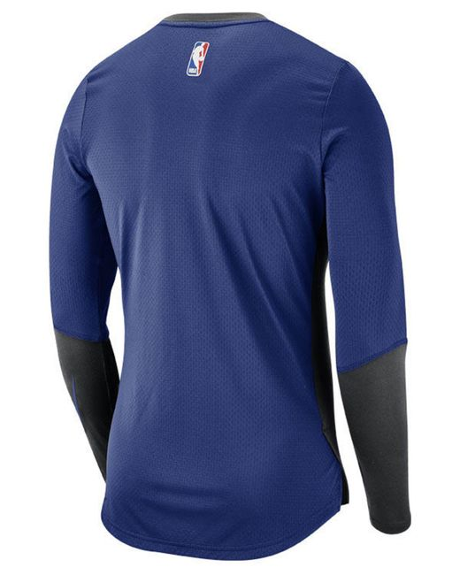 ... Nike - Blue New York Knicks Dry Long Sleeve Top for Men - Lyst a6808dbc7