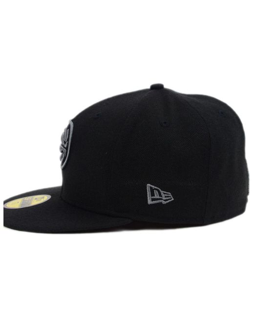 best authentic 3c63b e5232 ... purchase ktz indiana pacers black graph 59fifty cap for men lyst f57cf  104d3