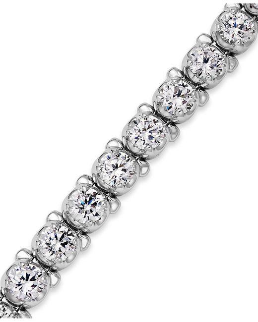 Macy's   Metallic Diamond Tennis Bracelet In 14k White Gold (8 Ct. T.w.)   Lyst