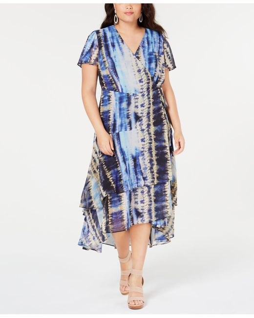 INC International Concepts I.n.c. Plus Size Tie-dyed Tiered ...