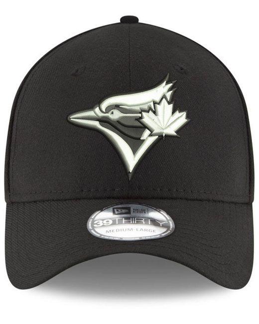 uk availability 5c083 bdbc0 ... KTZ - Black Toronto Blue Jays Dub Classic 39thirty Cap for Men - Lyst  ...