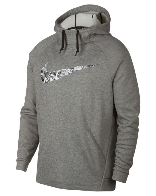 712d4fdcc0 Nike - Gray Therma Collage-logo Hoodie for Men - Lyst ...