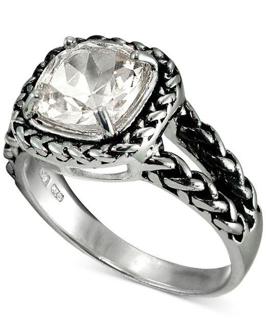Giani Bernini   Metallic Cubic Zirconia Braided Look Ring In Sterling Silver   Lyst