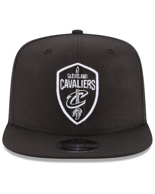 hot sale online 75803 06357 ... where to buy ktz black cleveland cavaliers anniversary patch 9fifty  snapback cap for men lyst 051ea
