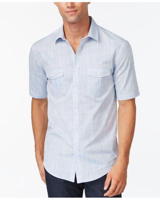 Alfani | White Warren Solid Textured Shirt for Men | Lyst